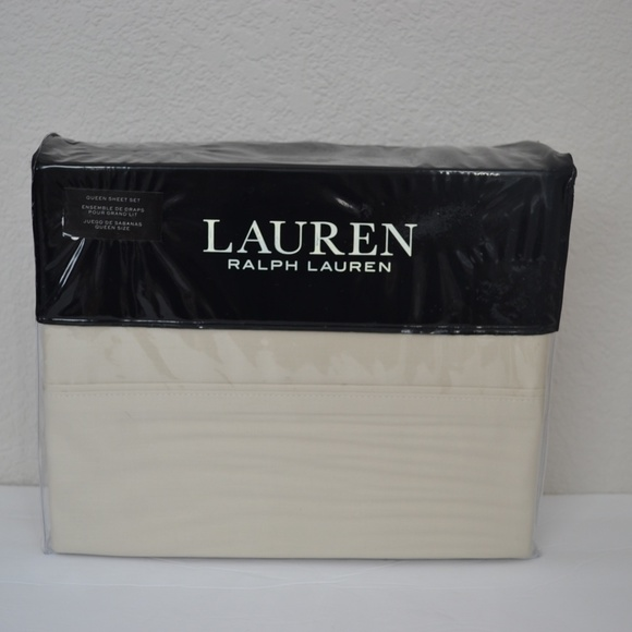Ralph Lauren Oat Dunham Queen Sheet Set